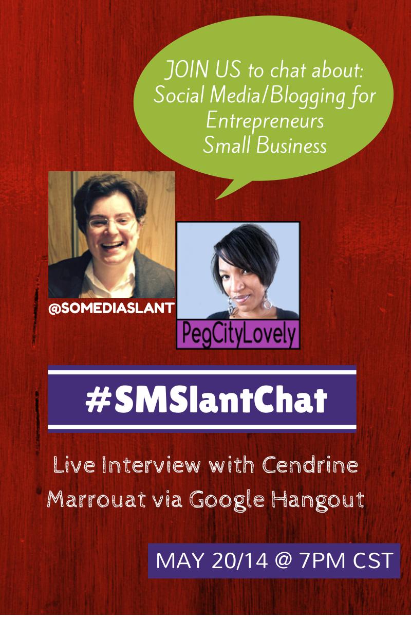 Online Event – Social Media and Blogging Tips #SMSlantChat