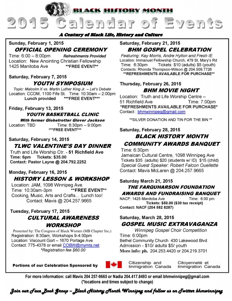 Black History Month Events 2015