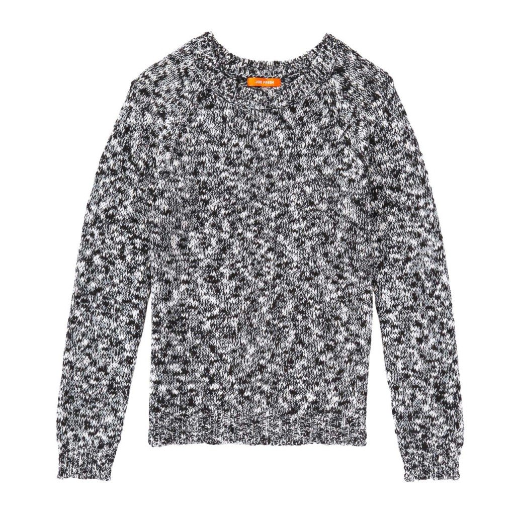 Slub Knit Sweater Black