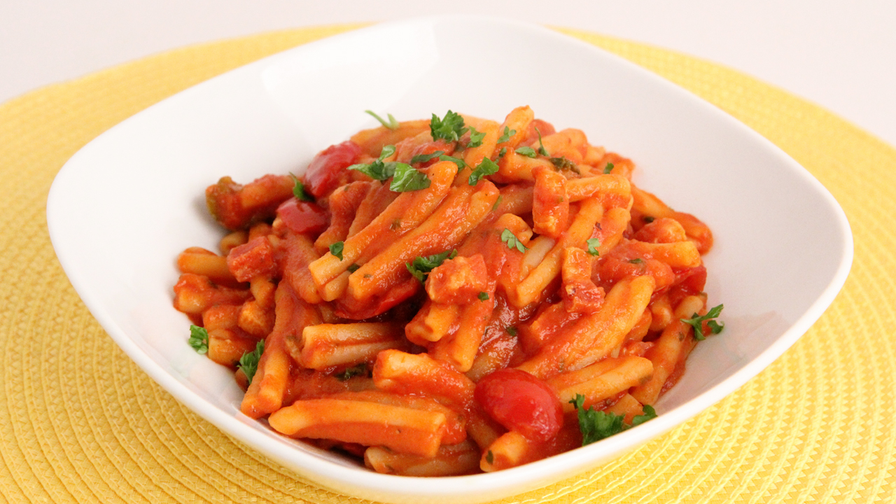 Pasta with Pancetta and Cherry Peppers