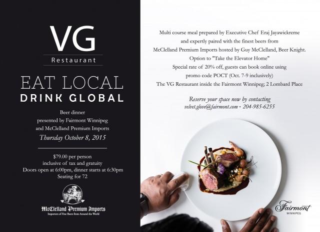 Eat Local Drink Global #Winnipeg