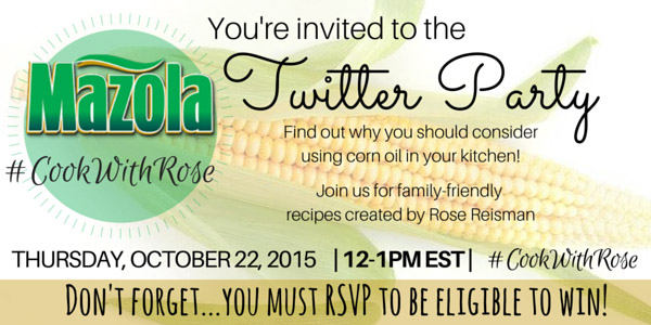 Mazola #CookWithRose Twitter Party