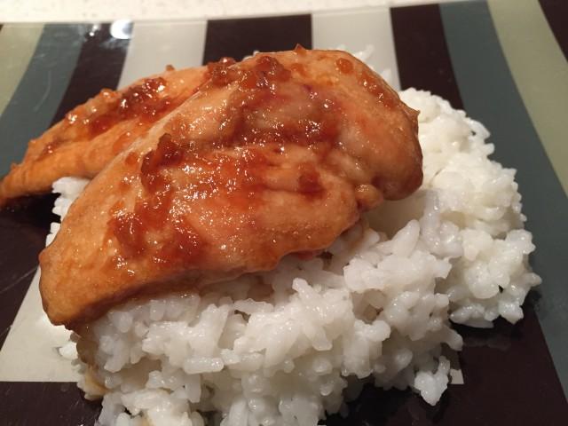 Quick Fix Dinner: Honey Garlic Chicken with Sticky Rice