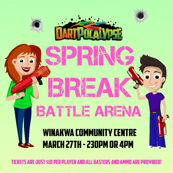 Dartpocalypse Nerf Battle Event at Winakwa Community Centre