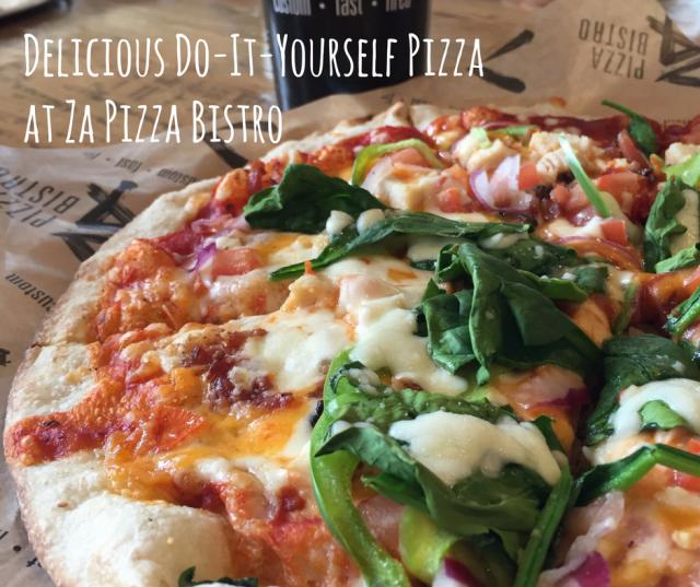 Delicious Do-It-Yourself Pizza at #ZaPizzaBistro