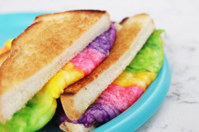 Rainbow Grilled Cheese Sandwich